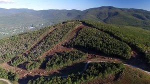 An aerial photo of Waterville Valley's Green Peak expansion, taken Sept. 15. (photo: Waterville Valley Resort)