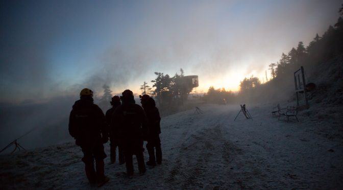 Killington snowmakers fired up the guns on Monday morning. (photo: Killington Resort)