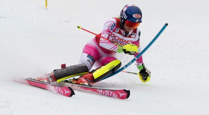Mikaela Shiffrin races at Killington, Vt. last month. (photo: U.S. Ski Team – Reese Brown)