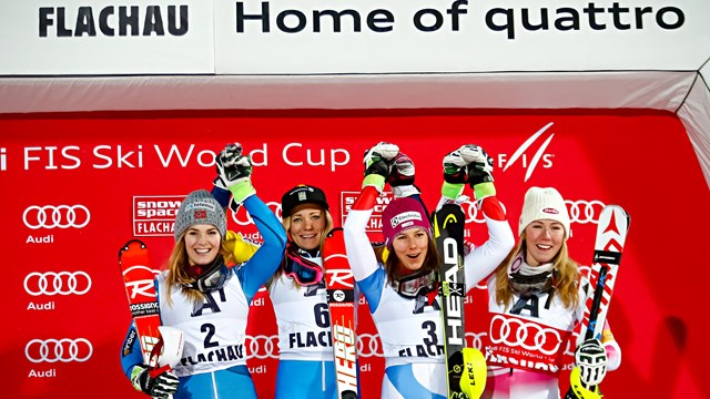 Shiffrin Ties For Third in Flachau