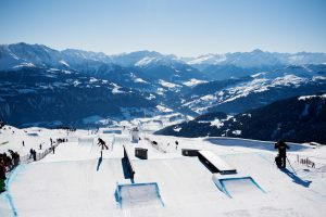 This year's Laax Open slopestyle course. (photo: Miha Matavz/FIS)