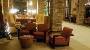 The lobby inside the Canaan Valley Resort and Conference Center in Davis, WV. (FTO photo: Martin Griff)