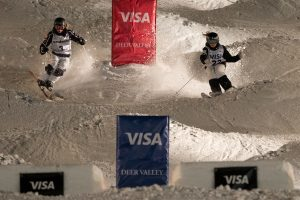 Saturday night's dual moguls competition at Deer Valley was electrifying. (photo: Steven Earl)