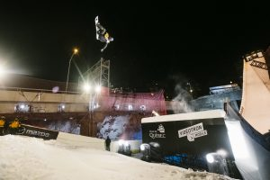 Austria's Anna Gasser cements her World Cup title on Saturday night in Quebec City, Canada. (photo: Renaud Philippe)