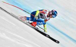 Mikaela Shiffrin finished seventh in the first run super G at the Audi FIS Ski World Cup alpine combined in Crans-Montana. (photo: Getty Images/AFP-Fabrice Coffrini via USSA)