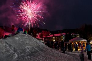 Fireworks at Smugglers' Notch. (file photo: Ski Vermont)
