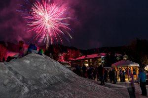 Fireworks at Smugglers' Notch. (file photo: Ski Vermont)