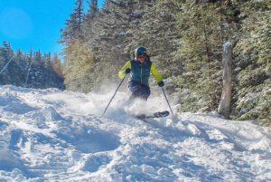Skiers enjoy fresh snow on Saturday at Wildcat Mountain. (photo: Wildcat Mountain Ski Area)